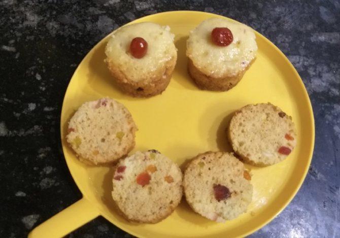 ட்ரை ப்ரூட்ஸ் கப் கேக் Dry Fruit Cupcake Madurai Kitchen